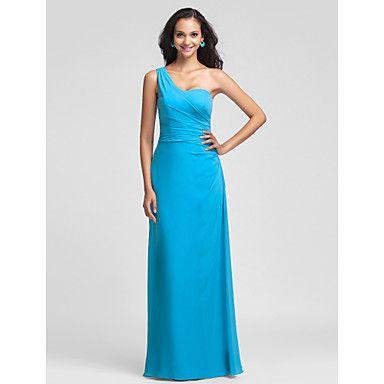 +Sheath/Column+One+Shoulder+Floor-length+Chiffon+Bridesmaid+Dress+(493611)+–+USD+$+119.99