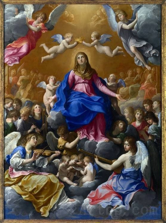 .Fourth Glorious Mystery - The Assumption of Mary into Heaven; I DO imagine, however, that it was her Son who crowned her Queen of Heaven.