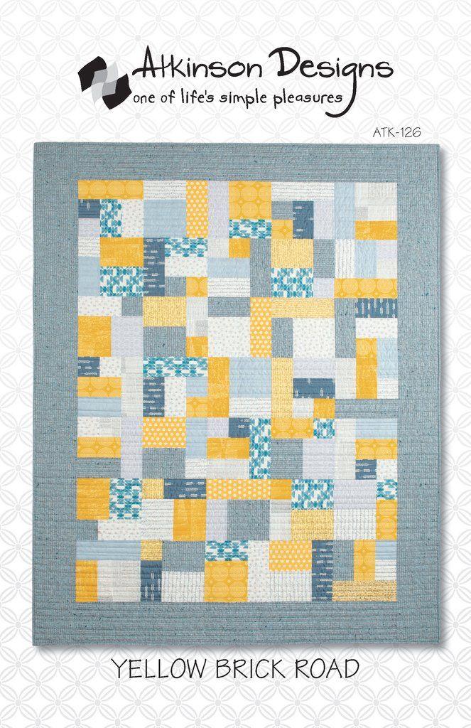 Yellow Brick Road Pattern Beginner Quilt Patterns Yellow Brick