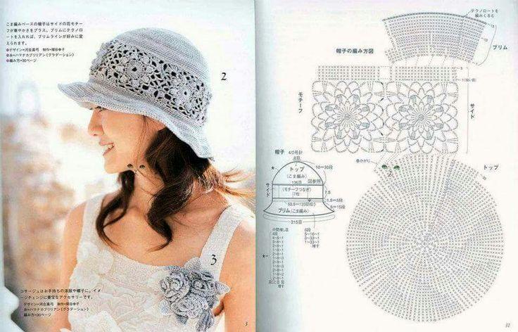 29 best GORROS images on Pinterest   Crochet patterns, Crochet hats ...