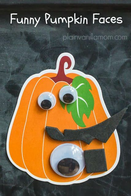 Plain Vanilla Mom: Funny Pumpkin Faces - add some magnets to googly eyes and you've got the makings for some silly pumpkin face fun