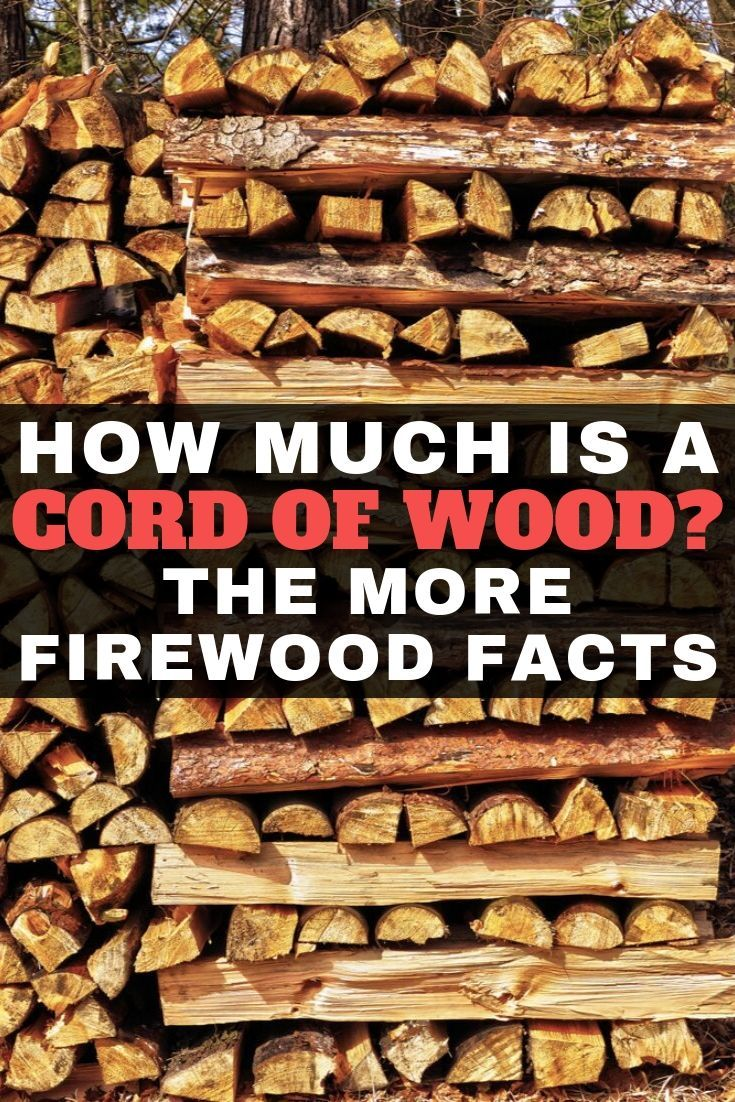 How Much Is A Cord Of Wood The More Firewood Facts Firewood Cord Wood