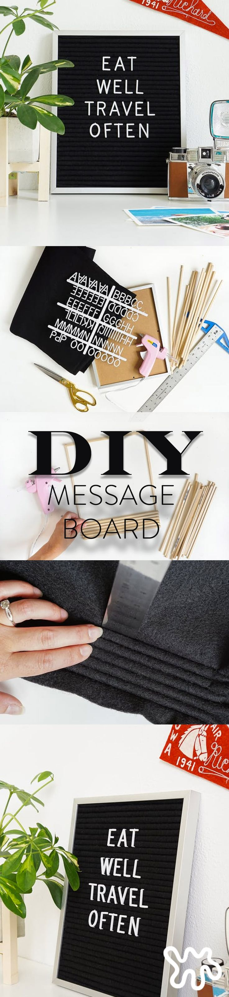 How to Make a Vintage-Style Felt Message Board For Under $25. This easy DIY brings back vintage message boards in a big way with BIG style. You'll likely find them styled as interior accessories or on your favorite blogger's Instagram feed, always sporting a clever message, of course. If you want to get in on the trend, then why not make yourself one?