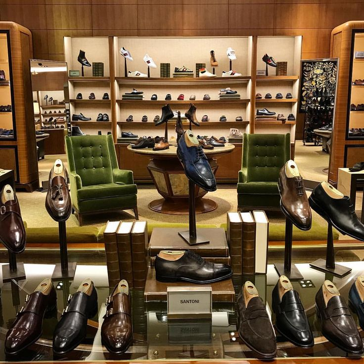"BERGDORF GOODMANS MEN'S, New York, ""Sssttt... Not your average library: visit our shoe library on the main floor."", pinned by Ton van der Veer"