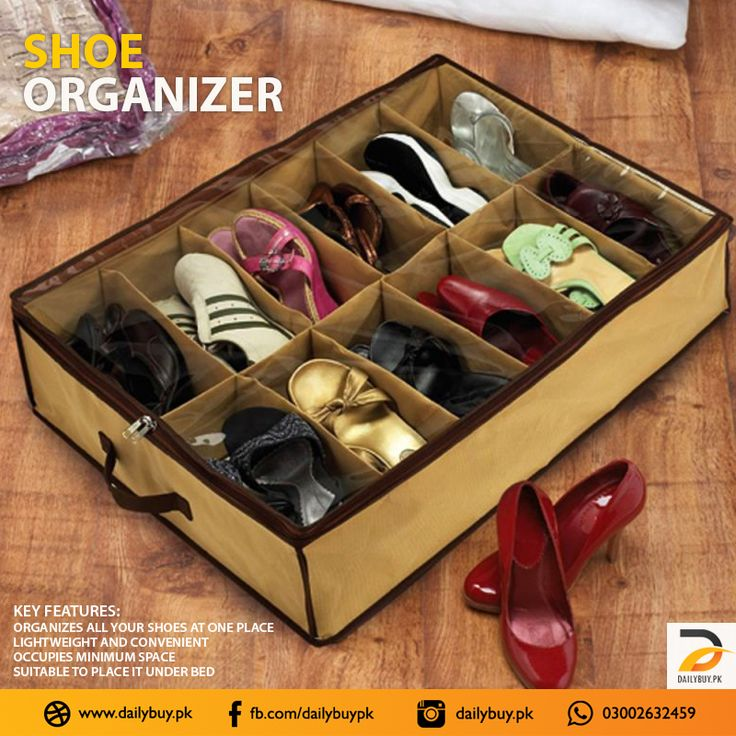Shoe Organizer with the capacity of storing 12 pairs. Keeps your shoes protected from bugs, dust, and moisture.  Shop Online https://dailybuy.pk/product-detail/SHOE-ORGANIZER Or Give us a Call / WhatsApp +923002632459  #ShoeOrganizer #HomeAccessories #OnlineShopping #Dailybuypk