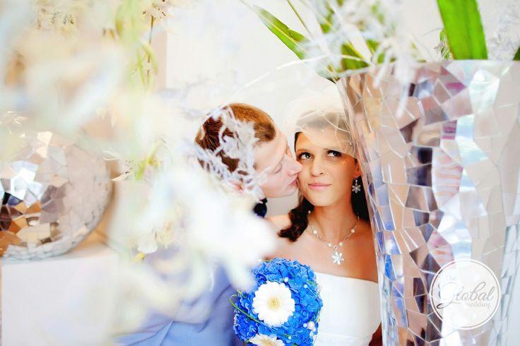Букет невесты синий. Blue wedding bouquet