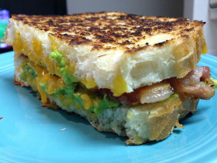 Bacon Guacamole Grilled Cheese Sandwich   Recipe