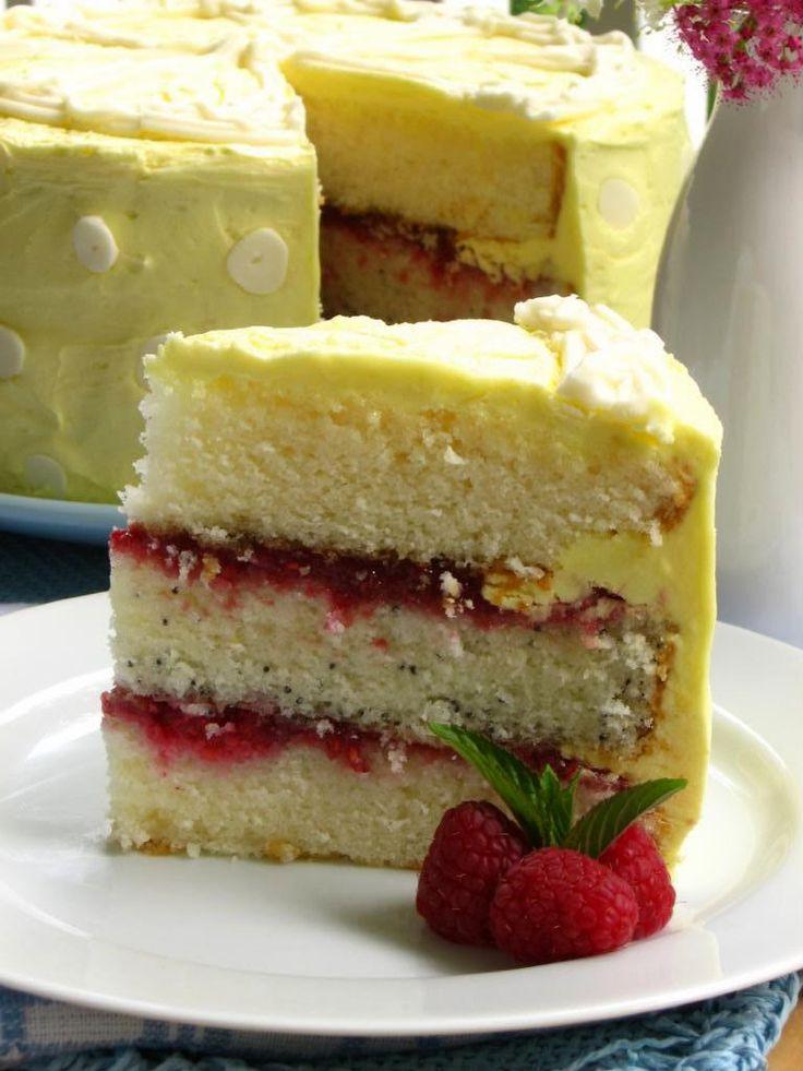Lemon Raspberry Cake | Raspberries | Pinterest