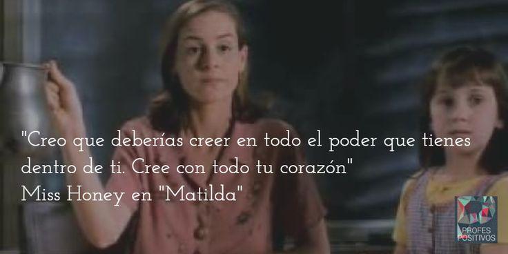 """Profes de película: la señorita Honey en la película """"Matilda"""". www.escueladecorazon.blogspot.com"""