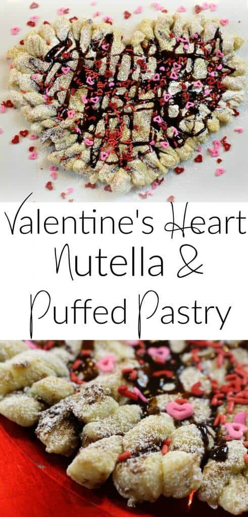 Valentineu0027s Day Heart Nutella Puff Pastry   Easy To Make Dessert And Treat!  #valentinstag