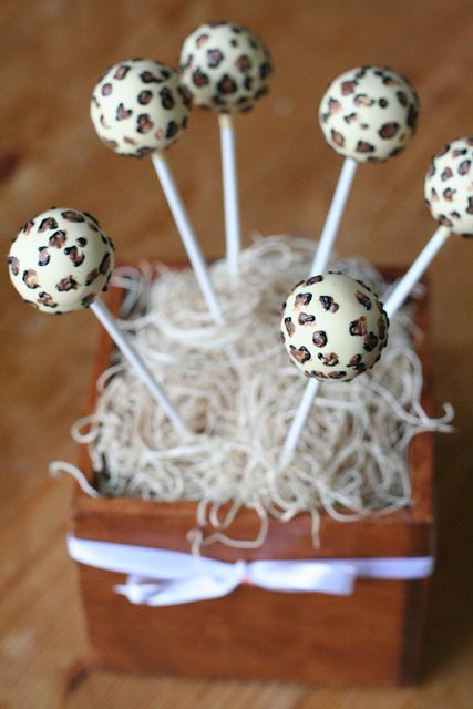 Leopard Print Cake Pops by Sweet Lauren Cakes, via Flickr