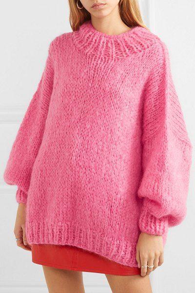 The Knitter the bubblegum mohair-blend sweater.  theknitter ... af2ba88eb