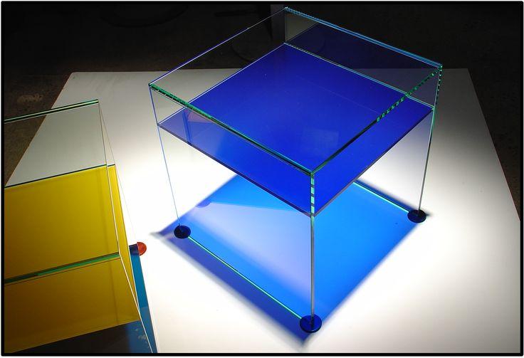 Cristal laminado semi traslucido Patines UV DuroAl. Anodizado.