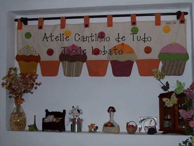 73 best images about cortinas con apliques para cocina etc on pinterest potholders roman - Patchwork para cocina ...