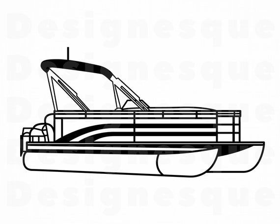 Download Pontoon Boat Outline Svg Pontoon Boat Svg Pontoon Boat Etsy In 2021 Boat Svg Boat Clipart Pontoon Boat