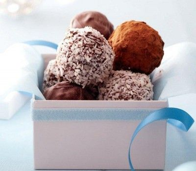 Chocolate-date truffles