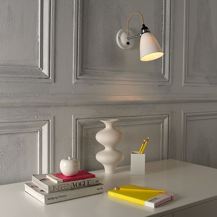 Buy Original BTC Hector Dome Switched Wall Light, Medium, Natural White Online at johnlewis.com