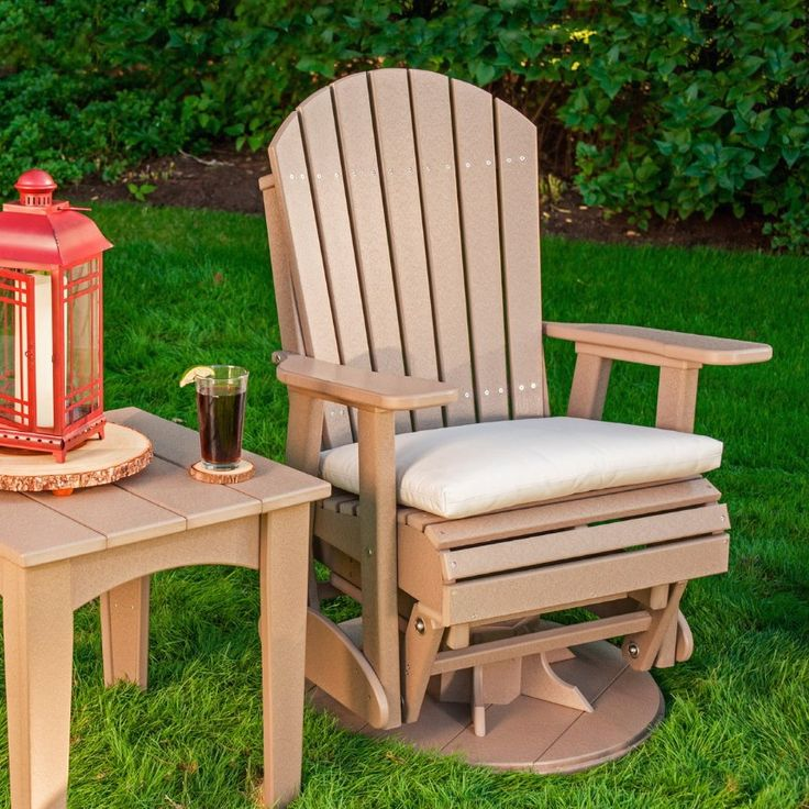 LuxCraft Adirondack Recycled Plastic Swivel Glider Chair