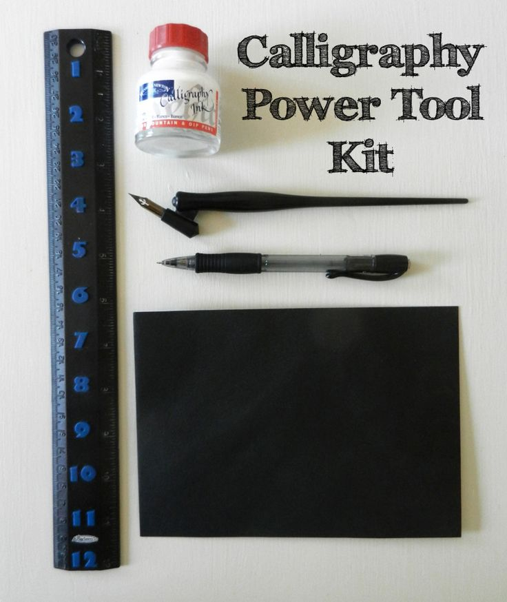 Calligraphy Power Tool Kit | The Postman's Knock Finally a tutorial that makes sense... hope this works!