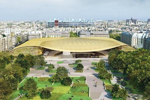 Futur emblème du Forum des Halles, la Canopée, immense structure de verre et d'acier, doit être livrée en juillet 2014.
