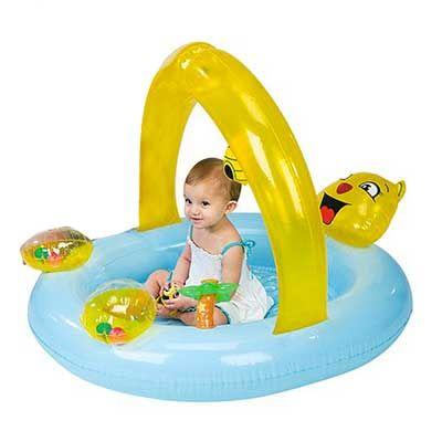 Tappeto piscina gonfiabile babysteps orsetto 52177 INTEX per bambini: il gioco con l'acqua ideale per mare e giardino.  Capacità: 25 litri Dimensioni: 102x94x76 cm