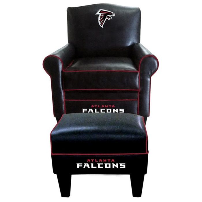 Attrayant Atlanta Falcons Leather Game Time Chair And Ottoman | Falcons | Pinterest |  Minnesota Vikings, Vikings And New York Giants