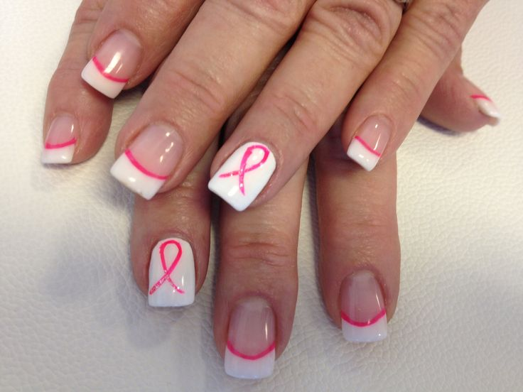 breast cancer awareness nails the polished nails day spa estero fl pretty pinterest. Black Bedroom Furniture Sets. Home Design Ideas
