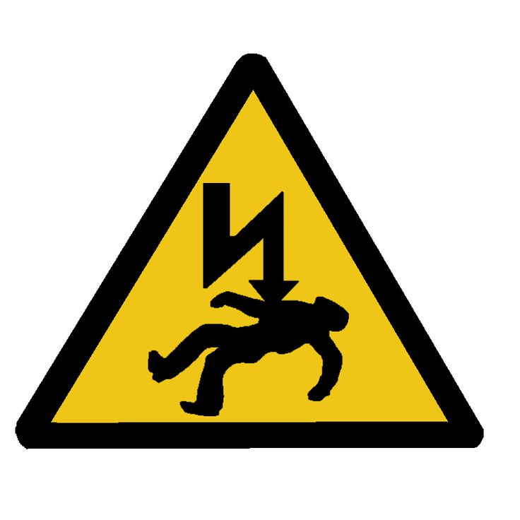 A safety sign that gives warning of a hazard. Description from schoolshealthandsafety.co.uk. I searched for this on bing.com/images