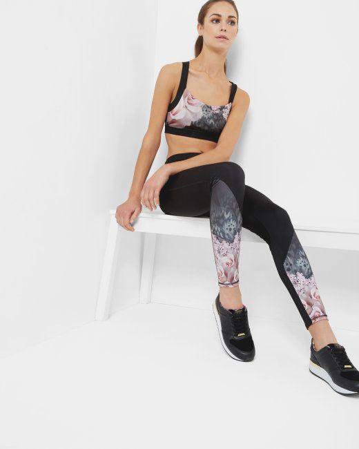 Dynamic Butterfly full length leggings - Black | Shop All | Ted Baker UK