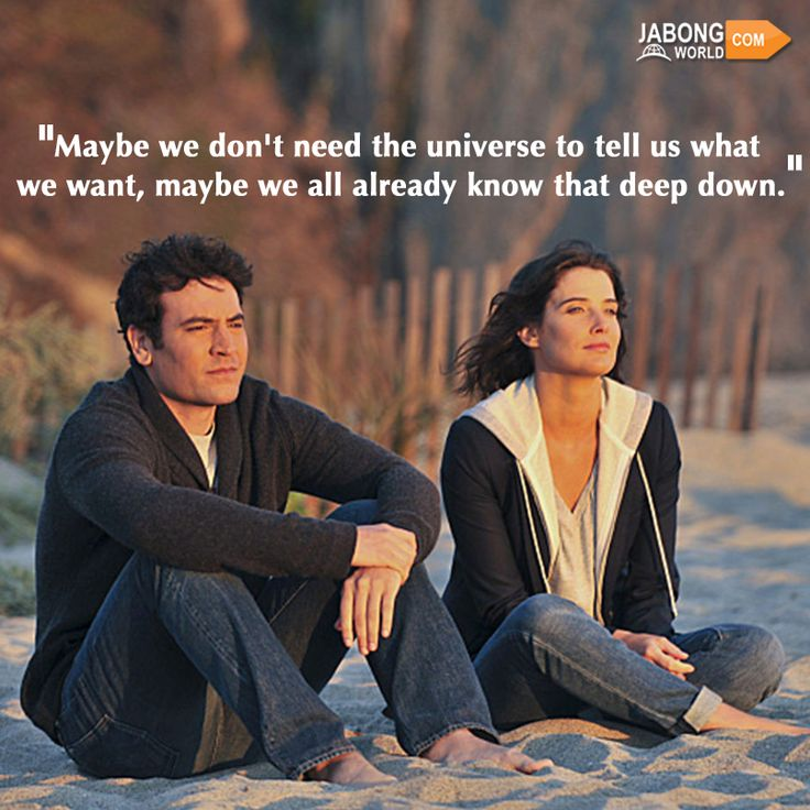 Oh yes. We do. #JWquotes #HowIMetYourMother #JoshRadnor #CobieSmulders