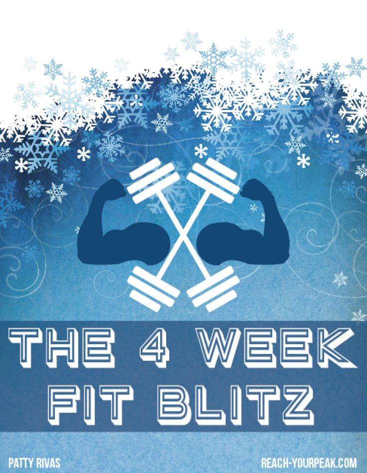 Try this 4 week workout plan to stay fit and healthy during the holiday season!