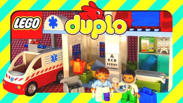 Toys LEGO Duplo Hospital with Ambulance and doctors unboxing, Legos Dupl...