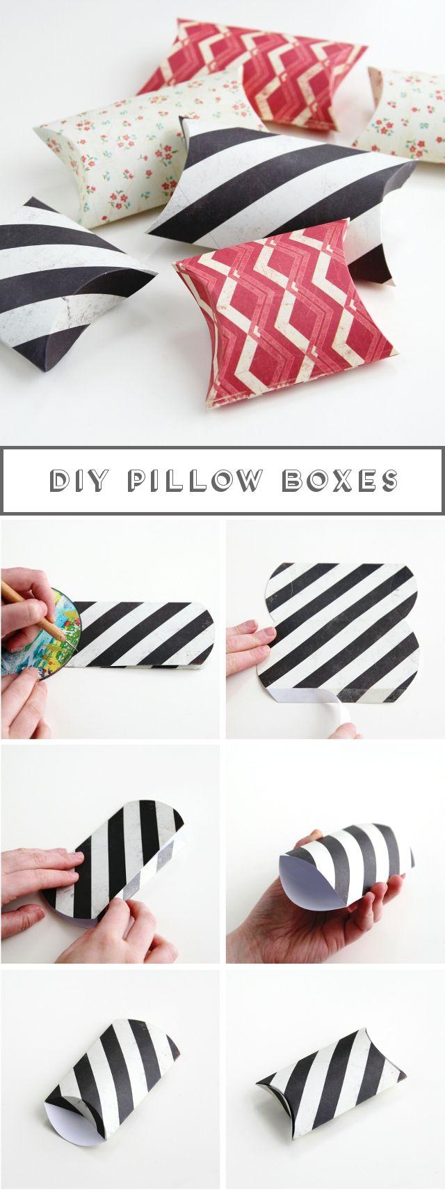 Diy Pillow Boxes                                                                                                                                                      More