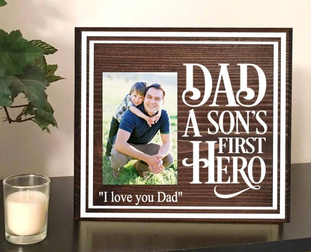 My dad my hero picture frame - father son picture frames - my father the hero - my father the hero quotes - dad photo frames - dad frame