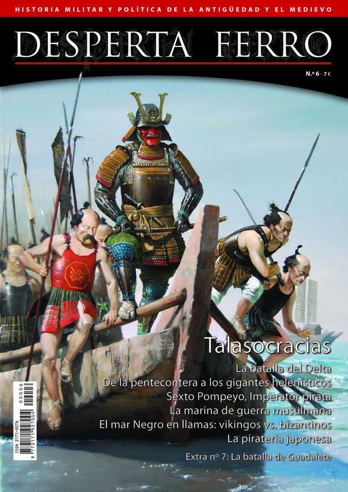 """Portada de """"Talasocracias, la guerra en el mar"""", n.º 6 de Desperta Ferro Antigua y Medieval. © José Daniel Cabrera Peña"""