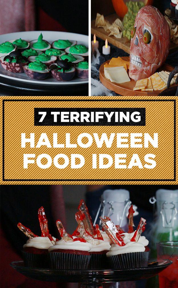 7 Terrifying Halloween Food Ideas   #halloween2017 #halloweenparty #halloweenfood #diy #halloween