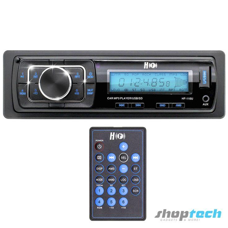 Autoestéreo USB y SD que reproduce toda la música en MP3 almacenada en estos dispositivos y con radio AM y FM.