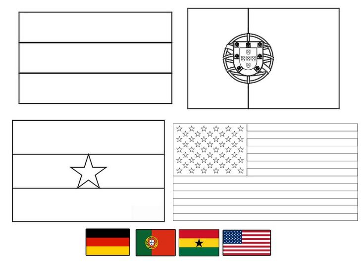 Fifa world cup brasil 2014 flags 3 coloring pages for for Ghana flag coloring page