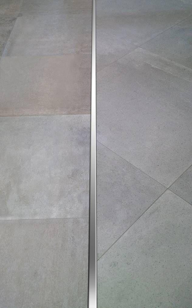 Perfil recto de acero inoxidable para porcelanatos que realza el diseño en pisos de interior y exterior.