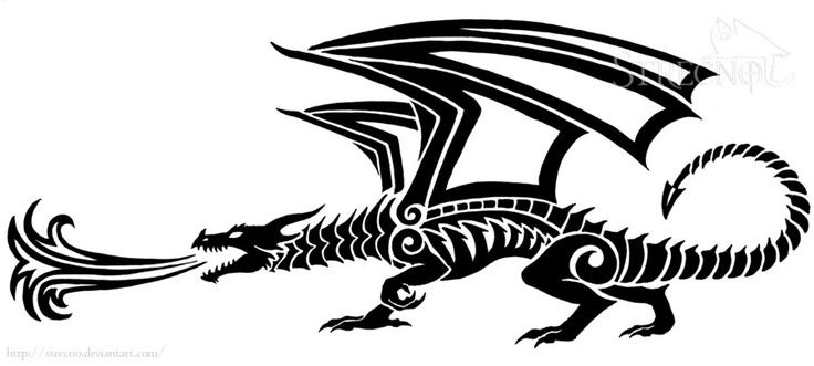 Fire breathing Dragon Tattoo version 2 by ~Strecno on deviantART