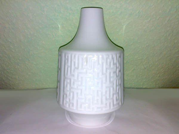 Vase OP Art Heinrich H & Co Selb Porzellan Labyrinth Deko 50s 60s Mid Century **