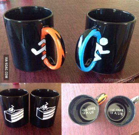 Couldn't find a mug I liked, so I made this matching set. Turned out okay, I think.