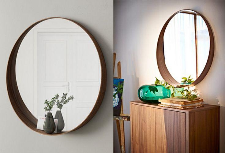 ikea walnut mirror
