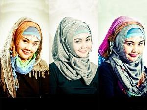 jilbab yang pas untuk wajah bulat | Cara Memakai Jilbab