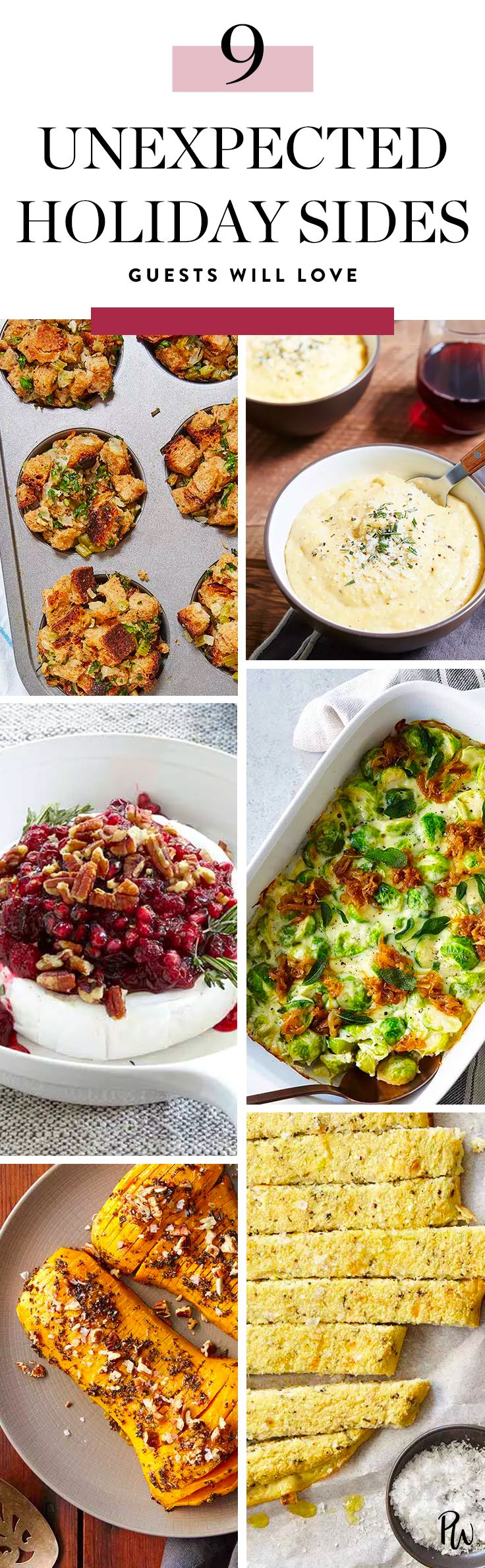 Get the recipe for these delicious and unexpected holiday sides that are sure to have your guests raving. #holidaysides #holidayfood #holidayrecipes #thanksgiving #thanksgivingrecipes #thanksgivingfood #thanksgivingappetizers #appetizerrecipes #holidayappetizers #thanksgivingsides