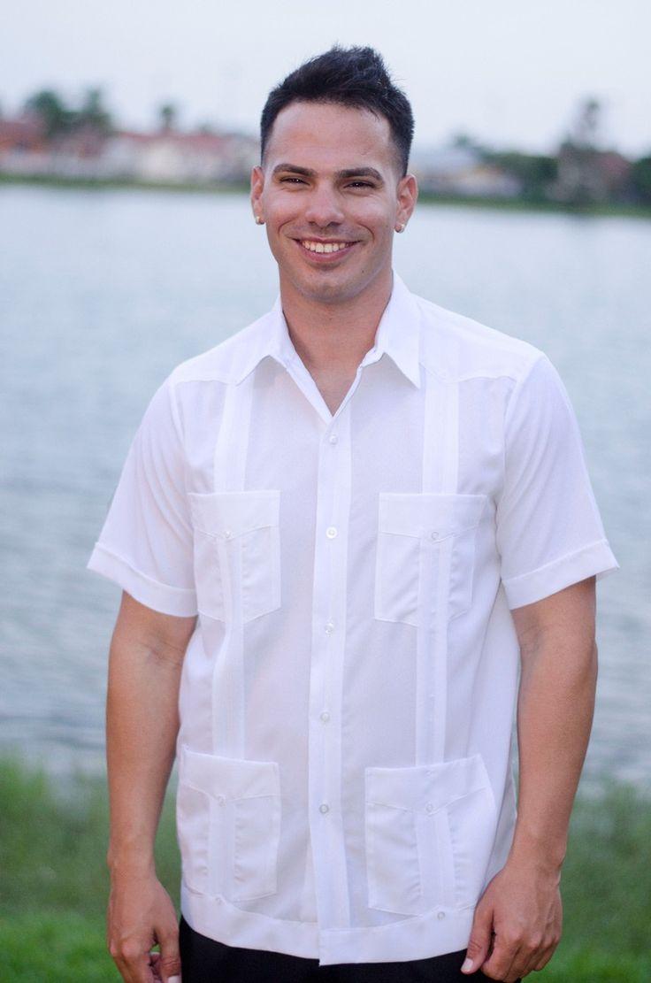 Mens White Linen Short Sleeve Shirt