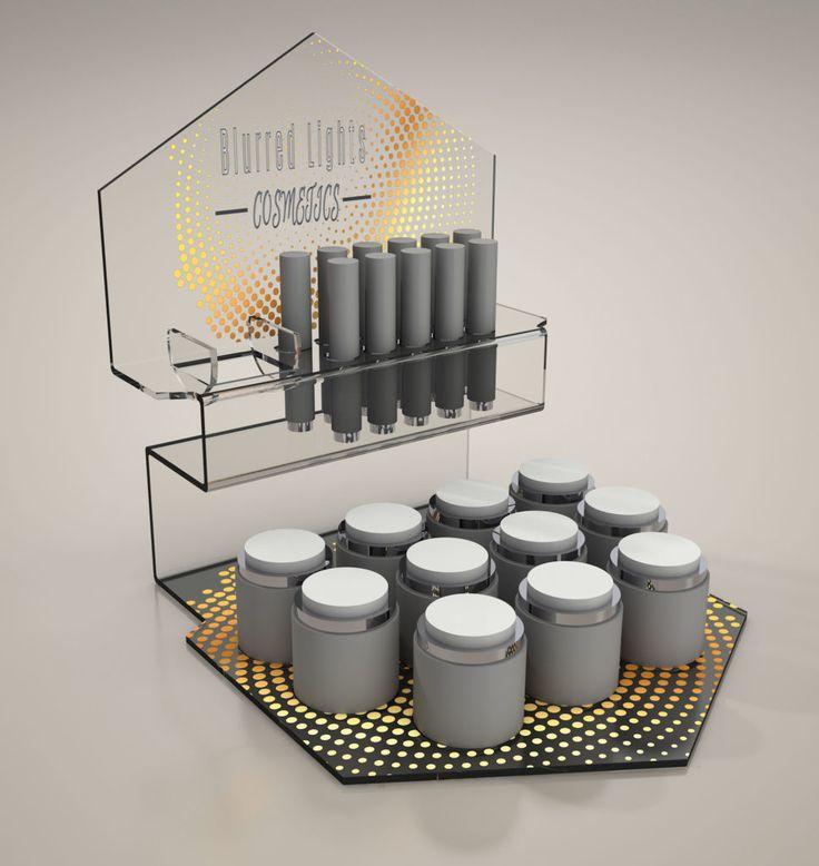 Espositore DeLuxe  per prodotti Elegante espositore in plexiglass sagomato a laser, con piega a caldo, costruito su misura per il tuo prodotto