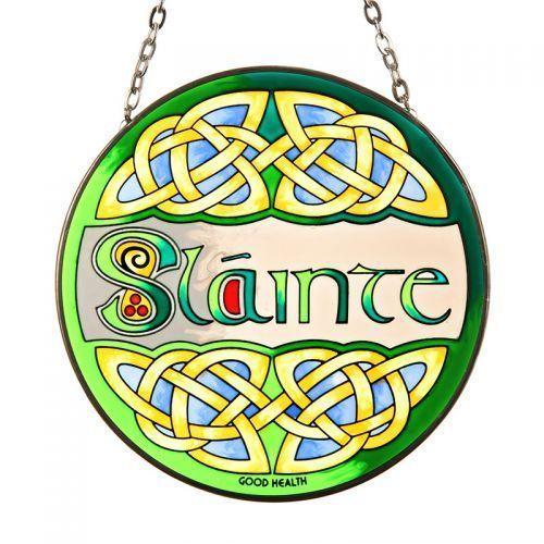 Slainte .keltisches Fensterbild aus Glas | eBay
