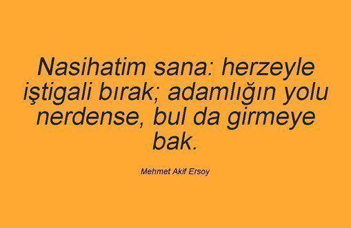 En Güzel Mehmet Akif Ersoy Sözleri