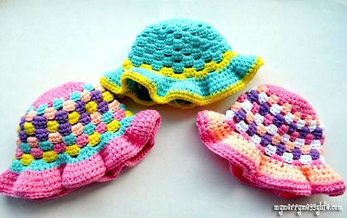 Crochet Granny Stitch Sun Hat: Messy Life, Craft, Free Pattern, Hat Measurement, Crochet Hats, Merry Messy, Crochet Pattern, Sun Hats